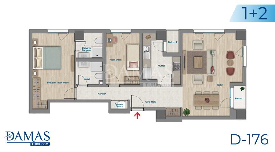 Damas Project D-176 in Istanbul - Floor plan picture  03