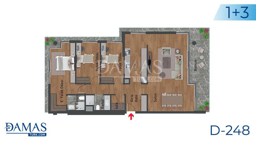 مجمع مجموعة داماس 248 في اسطنبول - صورة مخطط 03
