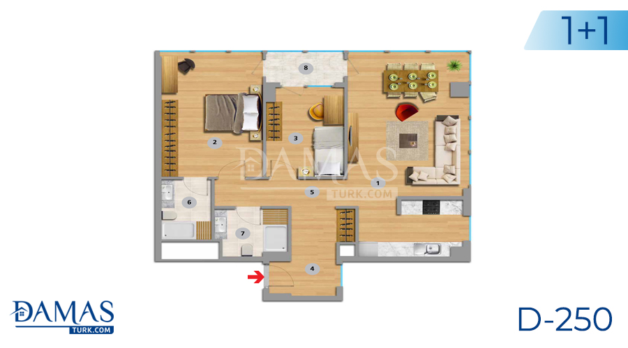 Damas Project D-250 in Istanbul - Floor plan picture 03