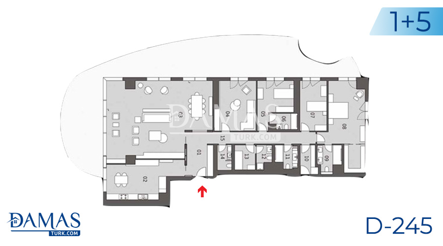 Damas Project D-245 in Istanbul - Floor plan picture  03