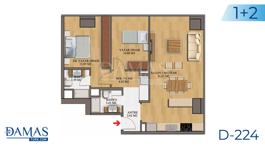 Damas Project D-224 in Istanbul - Floor plan picture  03