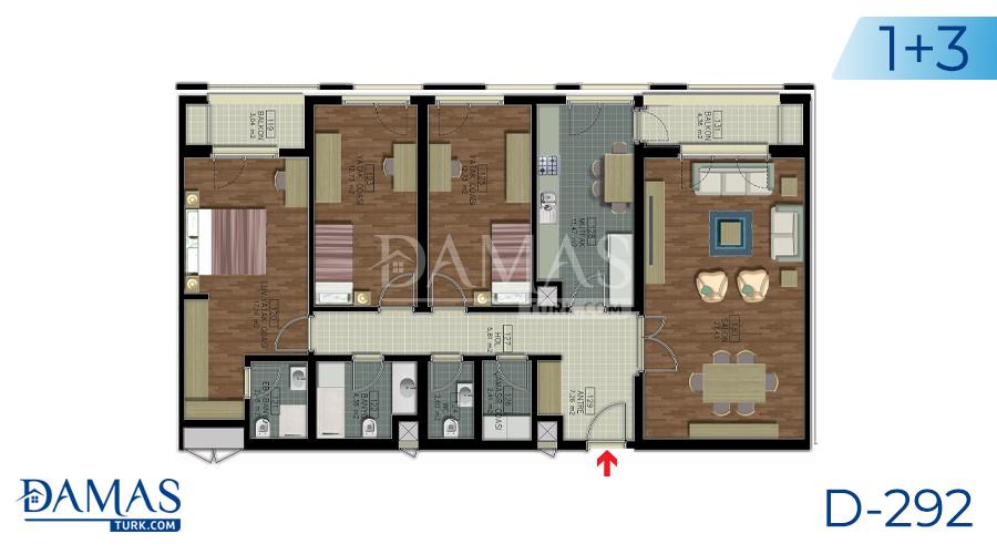 مجمع داماس 292 في اسطنبول - صورة مخطط 03
