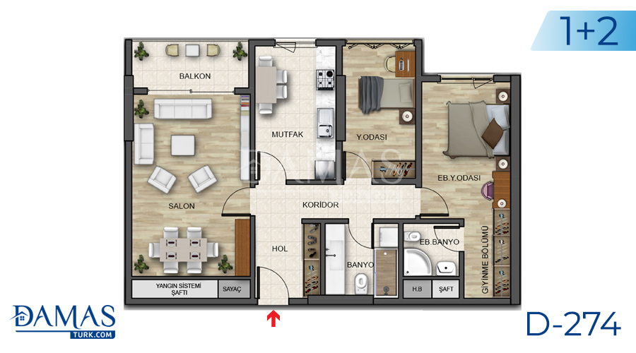 Damas Project D-274 in Istanbul - Floor plan picture 03