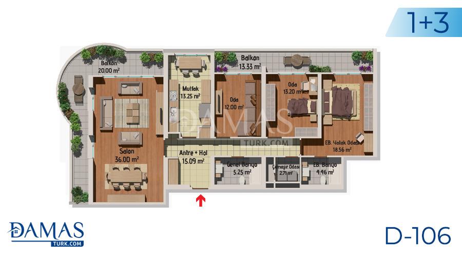 مجمع مجموعة داماس 106 في اسطنبول - صورة مخطط 03