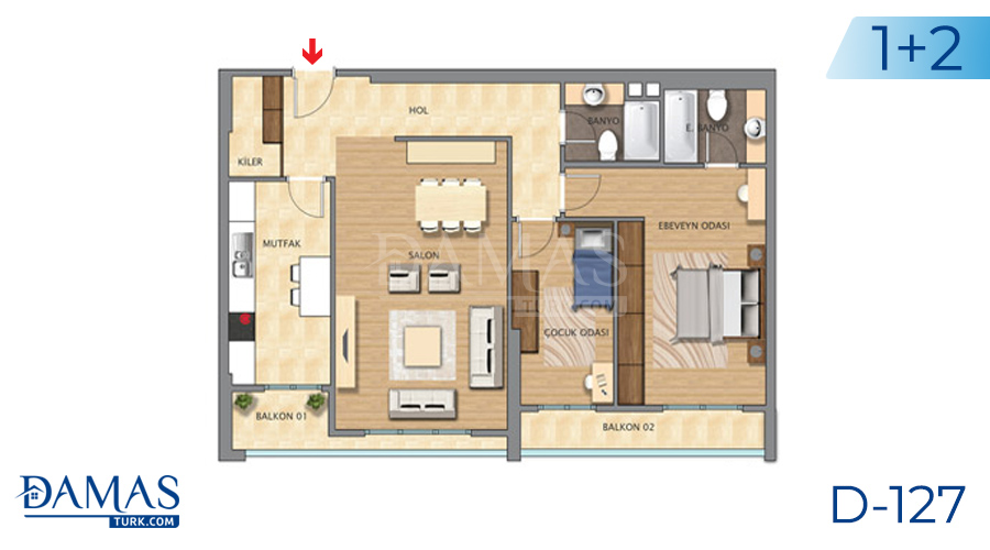 Damas Project D-127 in Istanbul - Floor plan picture 03
