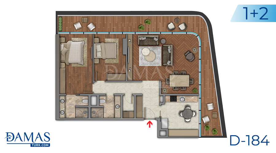 Damas Project D-184 in Istanbul - Floor plan picture  03
