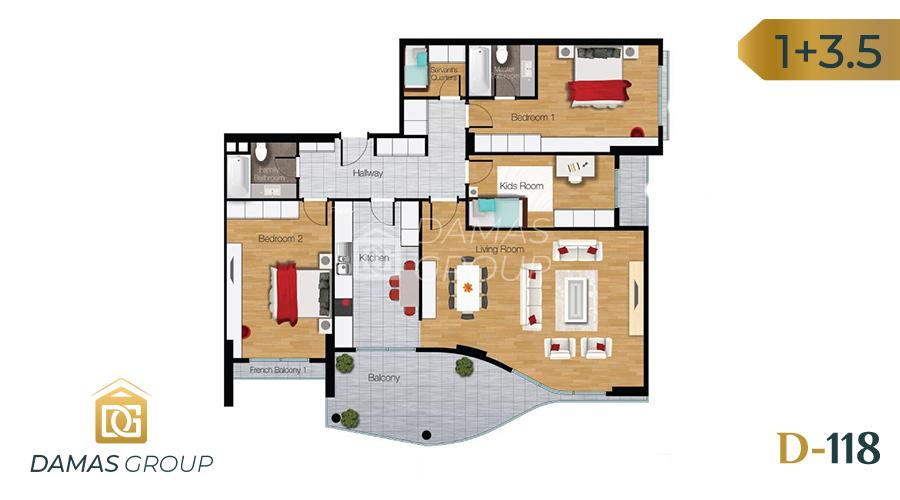 Damas Project D-118 in Istanbul - Floor Plan 03