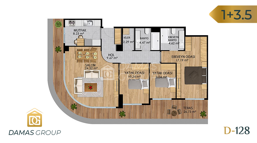 Damas Project D-128 in Istanbul - Floor Plan 03