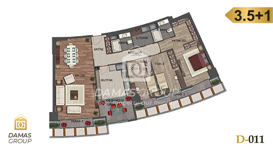 Damas Project D-011 in Istanbul - Floor Plan 04