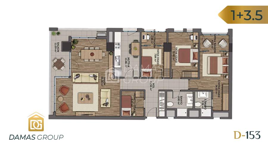 مجمع داماس153  في اسطنبول  - صورة مخطط 04