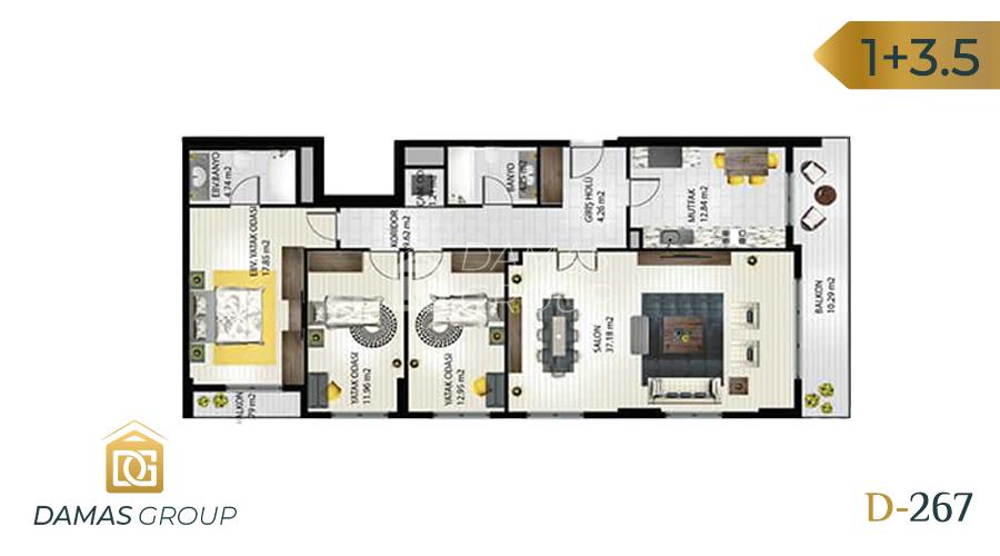 مجمع داماس 267 في اسطنبول  - صورة مخطط 02