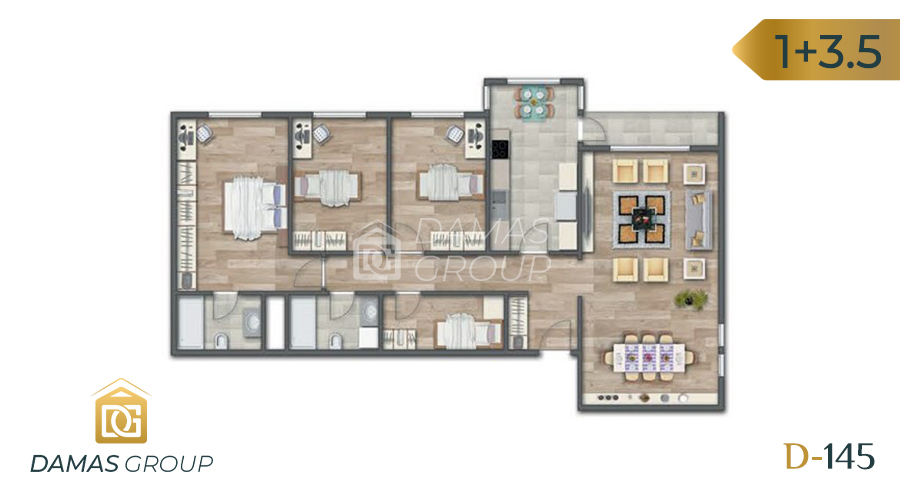Damas Project D-145 in Istanbul - Floor Plan 04