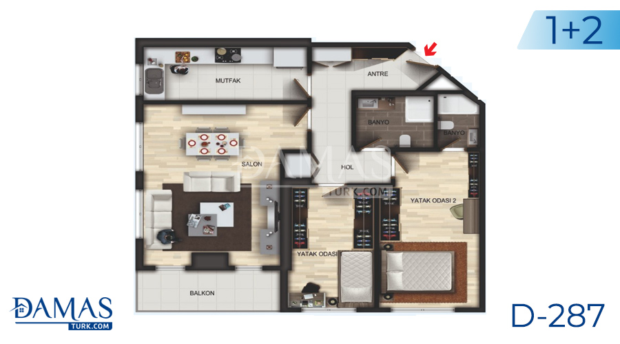 Damas Project D-287 in Istanbul - Floor plan picture 03
