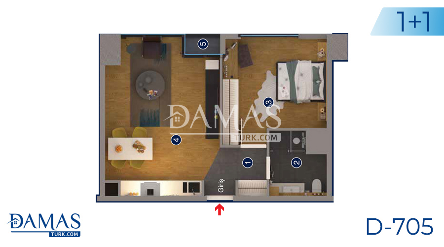 Damas Project D-705 in Ankara - Floor plan picture 03