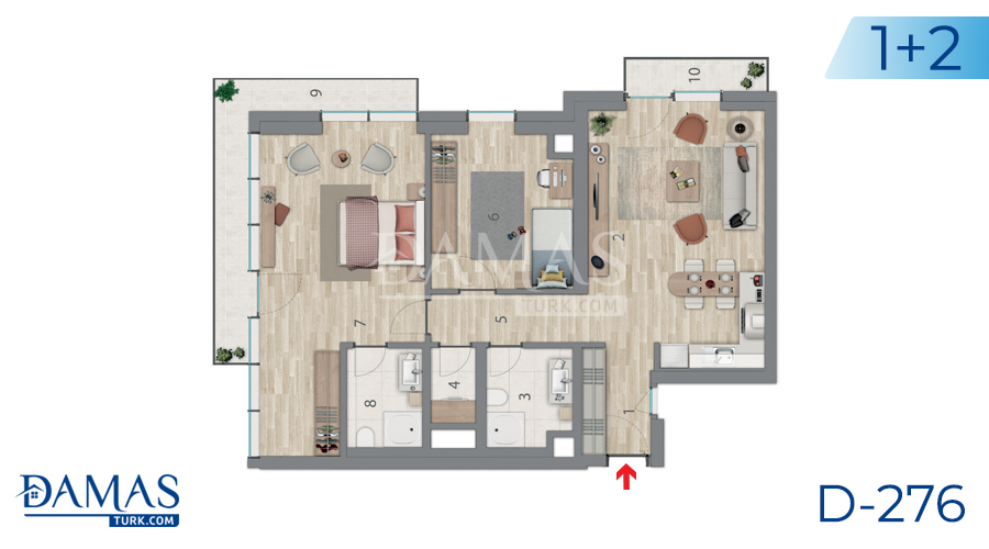 Damas Project D-276 in Istanbul - Floor plan picture 03