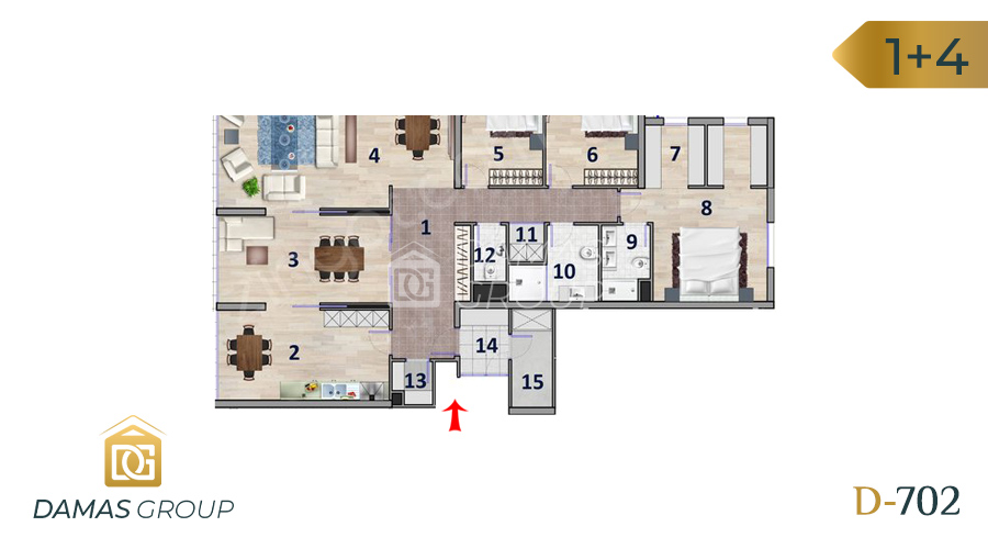 Damas Project D-702 in Ankara - Floor Plan 03