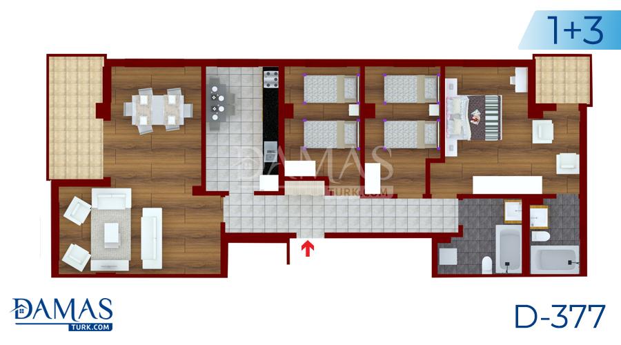 مجمع داماس 377 في يلوا - صورة مخطط  03