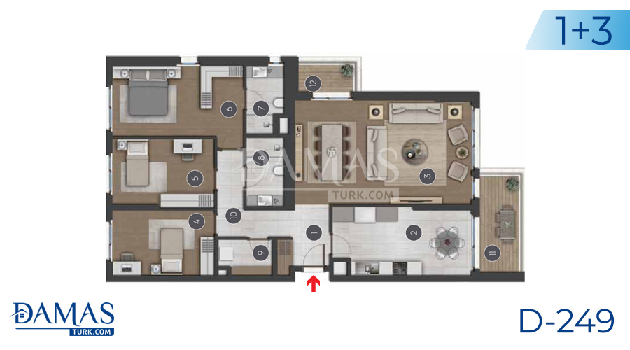 Damas Project D-249 in Istanbul - Floor plan picture 03