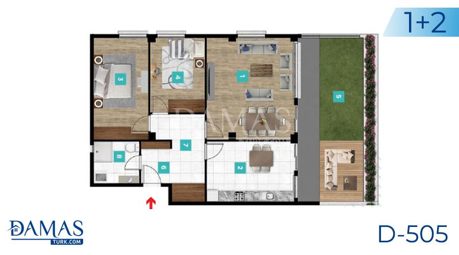 مجمع مجموعة داماس 505 في كوجالي - صورة مخطط 03