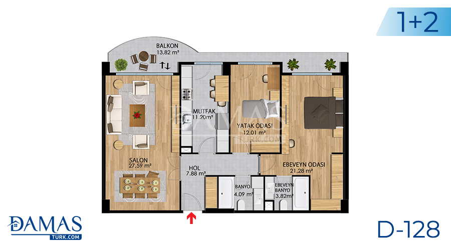 Damas Project D-128 in Istanbul - Floor plan picture 03