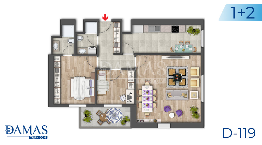 Damas Project D-119 in Istanbul - Floor plan picture 03