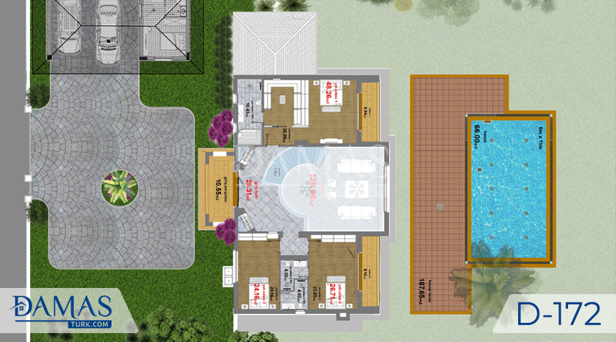 Damas Project D-172 in Istanbul -Floor plan picture  03