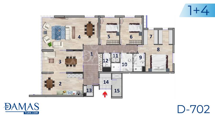 مجمع داماس 702 في أنقرة - صورة مخطط 03