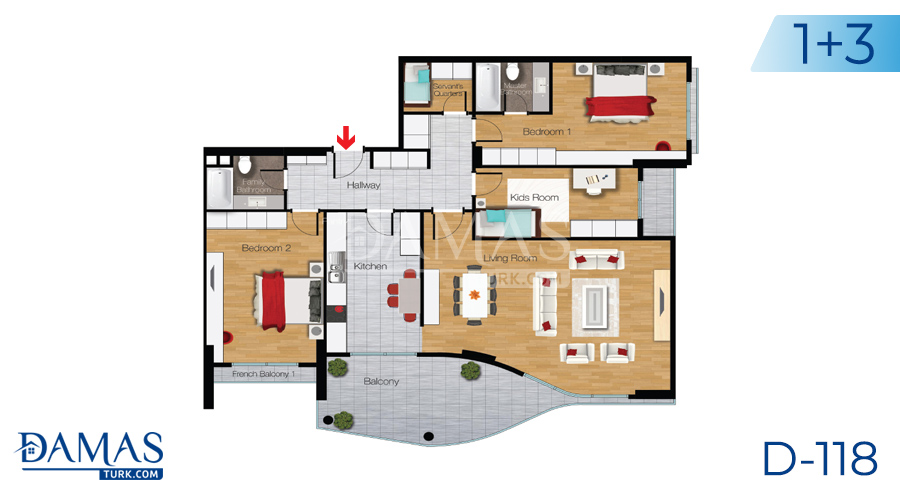 Damas Project D-118 in Istanbul - Floor plan picture 03