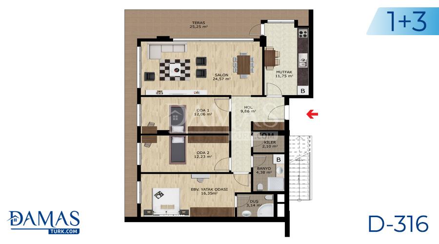 Damas Project D-316 in Bursa - Floor plan picture  03