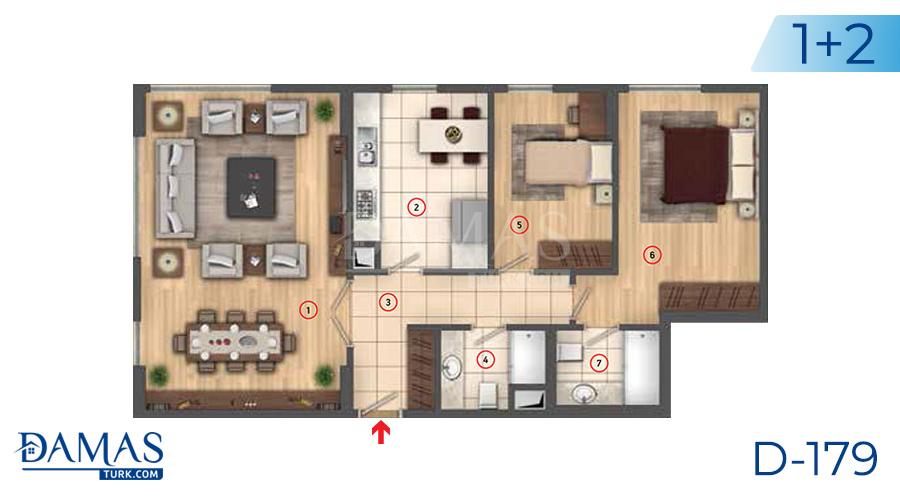 مجمع مجموعة داماس 179 في اسطنبول - صورة مخطط 03