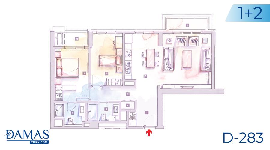 مجمع داماس 283 في اسطنبول - صورة مخطط 03