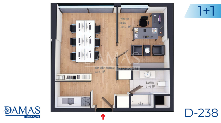 Damas Project D-238 in Istanbul - Floor plan picture  03