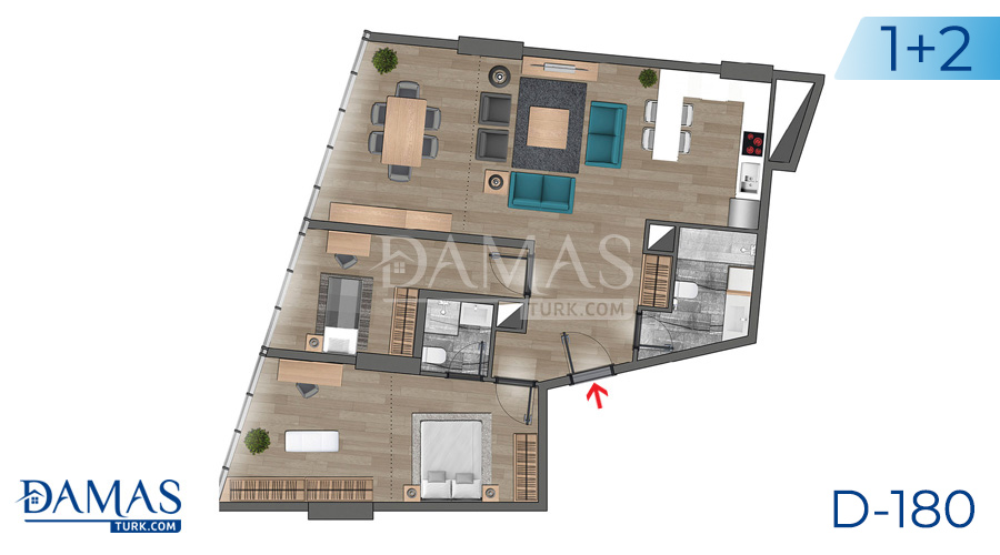Damas Project D-180 in Istanbul - Floor plan picture  03
