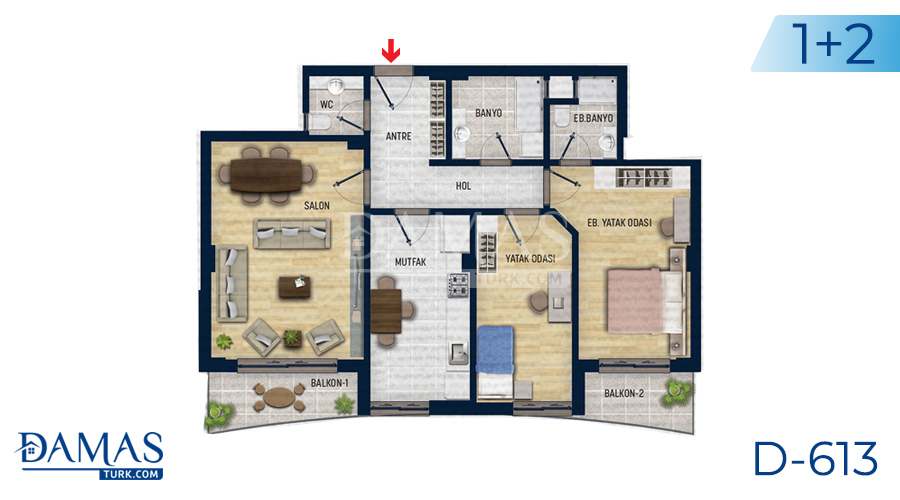 Damas Project D-613 in Antalya - Floor plan picture 03