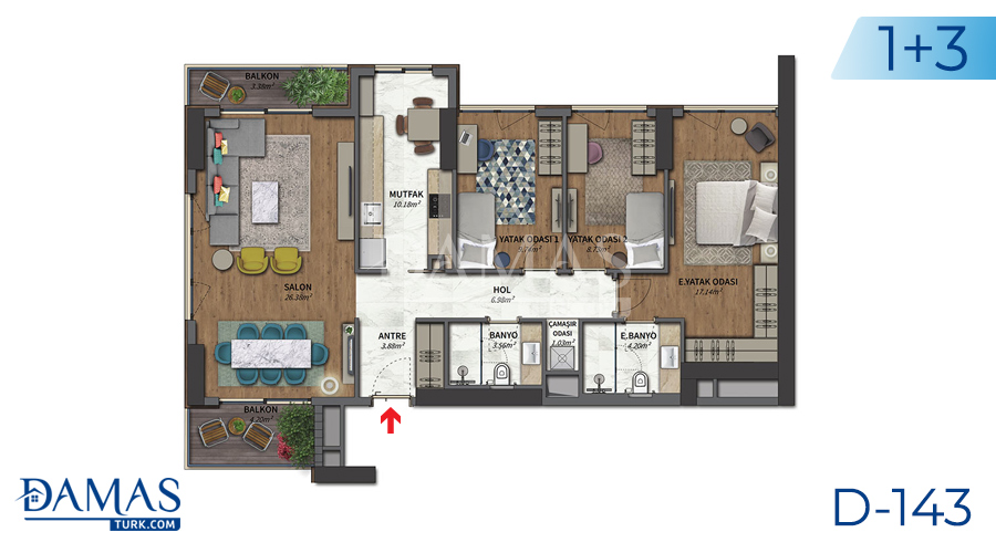Damas Project D-143 in Istanbul - Floor plan picture 03