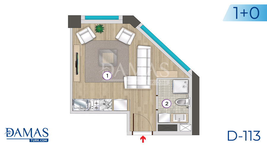 Damas Project D-113 in Istanbul - Floor plan picture 03