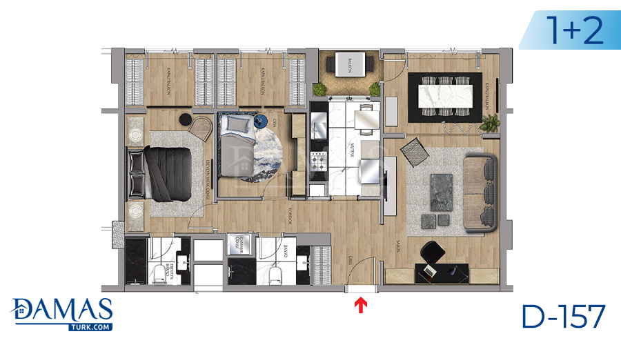 Damas Project D-157 in Istanbul - Floor plan picture 03