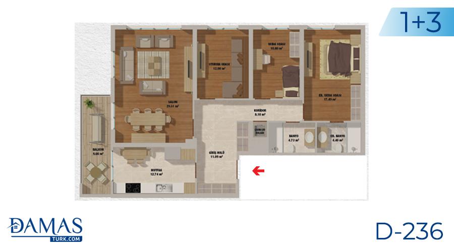 مجمع مجموعة داماس 236 في اسطنبول - صورة مخطط 03