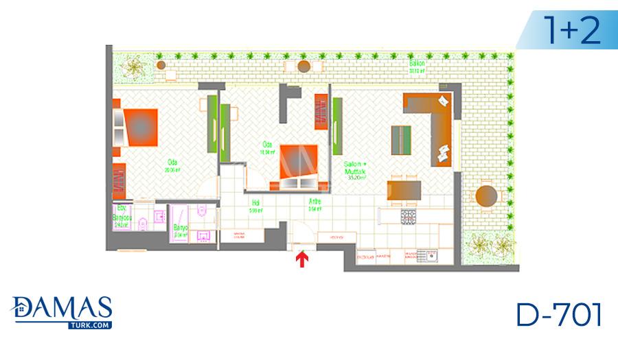Damas Project D-701 in Ankara - Floor plan picture 03