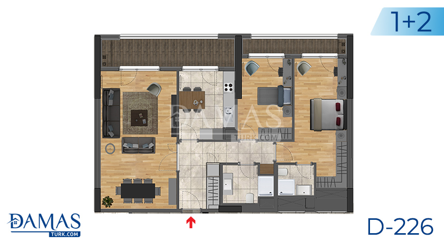 Damas Project D-226 in Istanbul -Floor plan picture  03