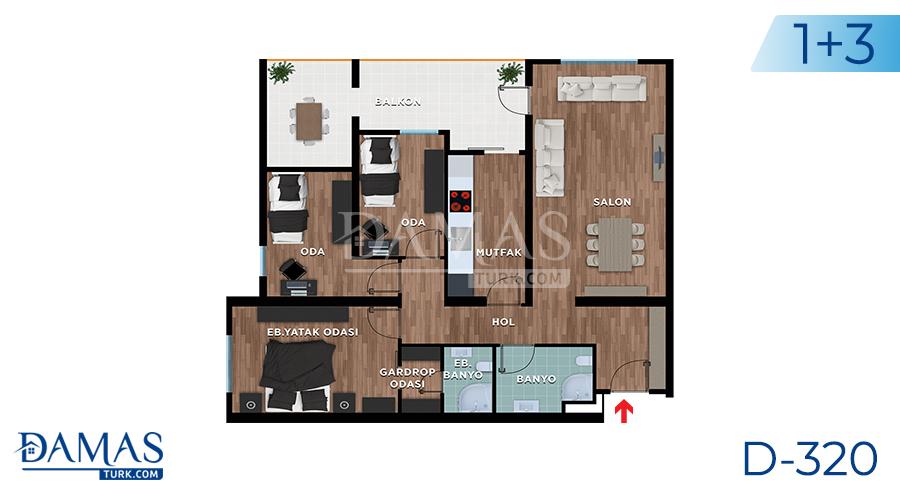Damas Project D-319 in Bursa - Floor plan picture 03