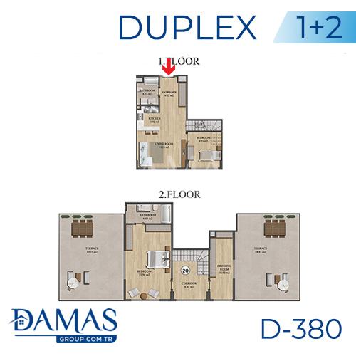 مجمع داماس 380 في اسطنبول - صورة مخطط 03