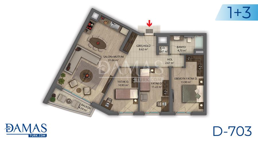 مجمع داماس 703 في أنقرة - صورة مخطط 03