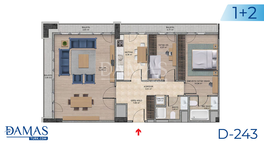 Damas Project D-243 in Istanbul - Floor plan picture  03