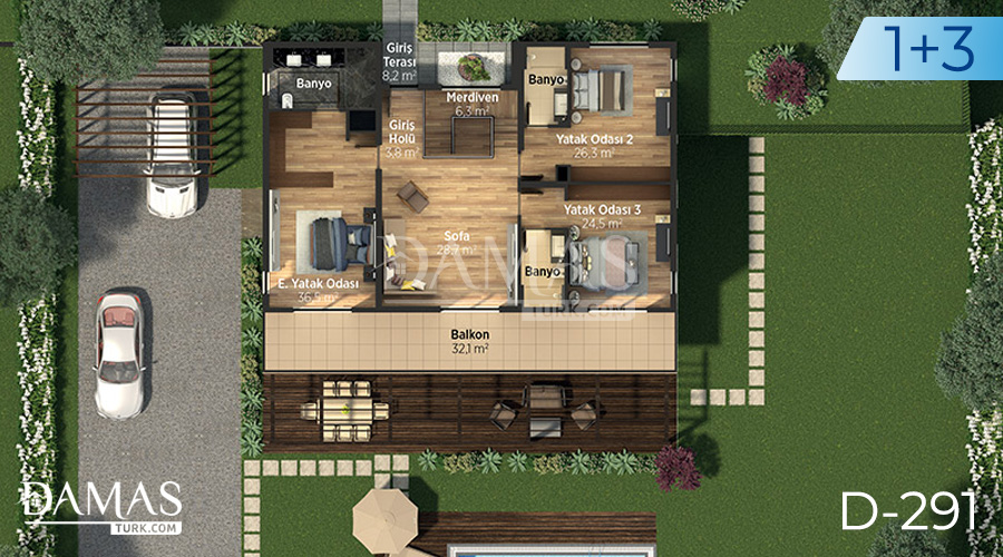 Damas Project D-291 in Istanbul - Floor plan picture 03