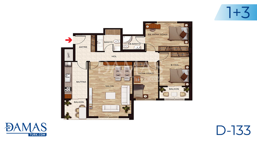 Damas Project D-131 in Istanbul - Floor plan picture 03