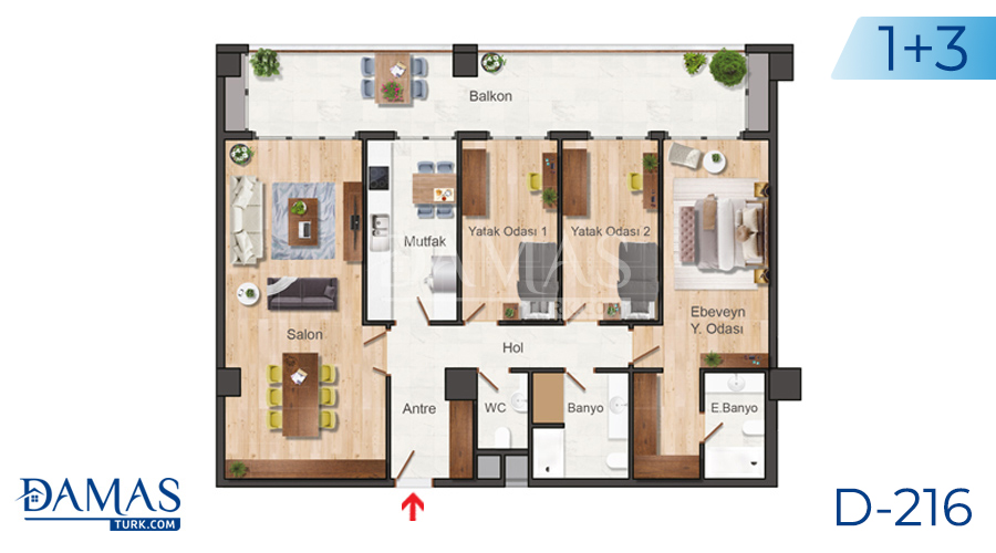 Damas Project D-216 in Istanbul - Floor plan picture  03