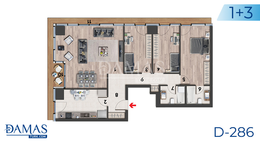 Damas Project D-286 in Istanbul - Flooe plan picture 03