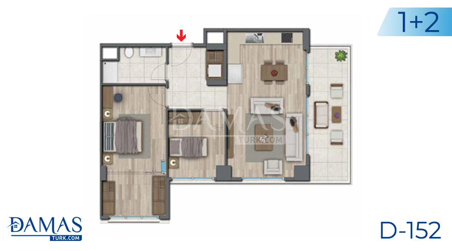 Damas Project D-152 in Istanbul - Floor plan picture 04