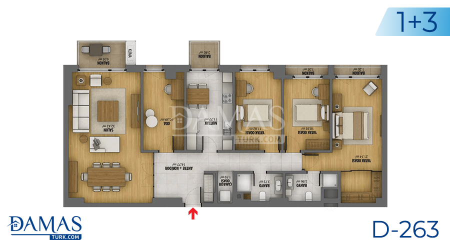 Damas Project D-263 in Istanbul - Floor plan picture 04